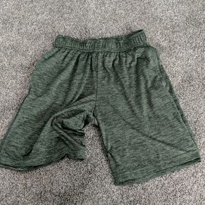Olive green athletic shorts